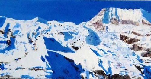 Vue de montagnes enneigées