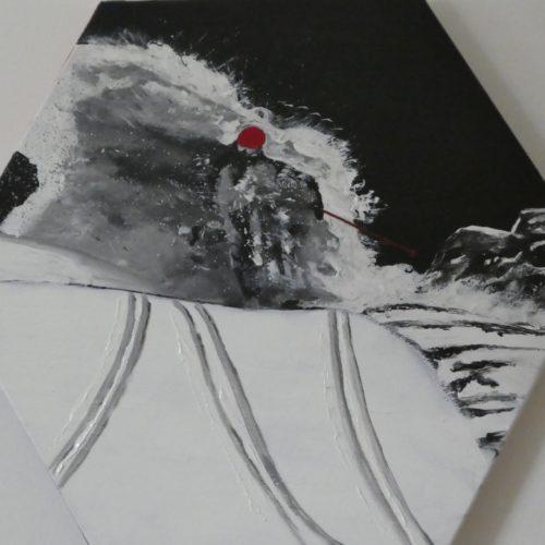 Skieur dans la poudreuse